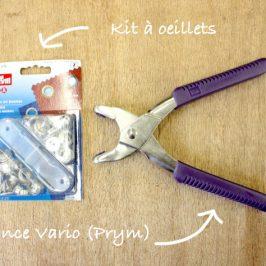 Poser des oeillets avec la pince Vario