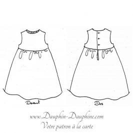 Robe dos boutonné 3-10 ans