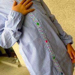 La blouse d'écolier à partir d'une chemise