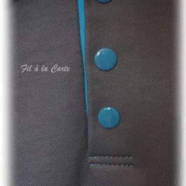 Couture d'une patte de boutonnage