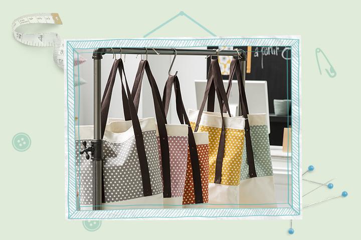 tote bag bicolore pop couture. Black Bedroom Furniture Sets. Home Design Ideas