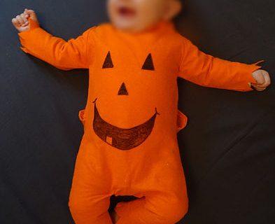 Costume citrouille pour bébé