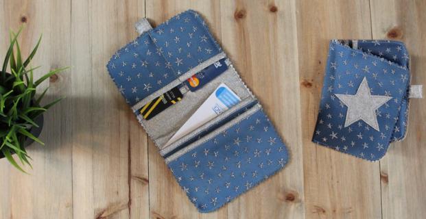 Porte-cartes en simili cuir