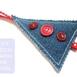 Décoration pour le sapin en jeans recyclé