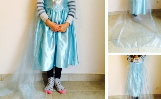 Une traîne amovible pour la robe d'Elsa