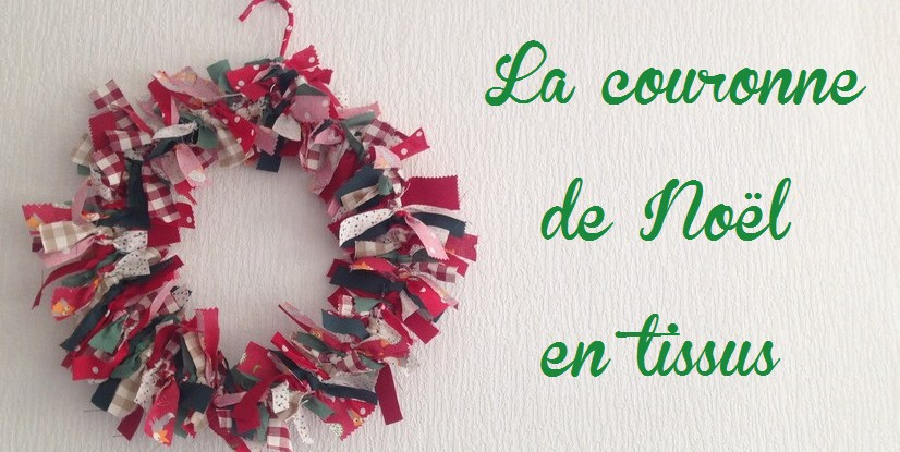 Couronne de no l facile pop couture Tuto decoration de noel en tissus