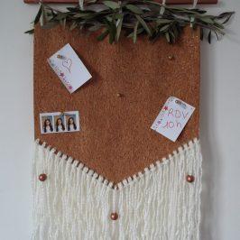 Pèle-mêle en liège et en laine