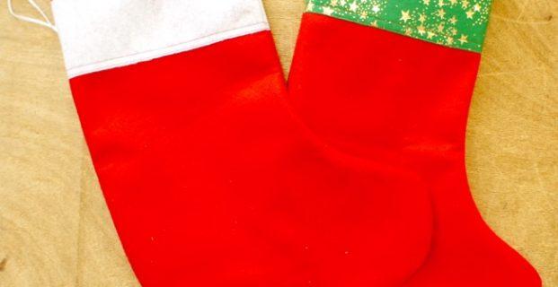 Botte de Noël en feutrine