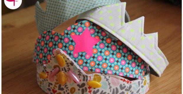 Couronne en tissu pour enfant recto/verso et multi-tailles