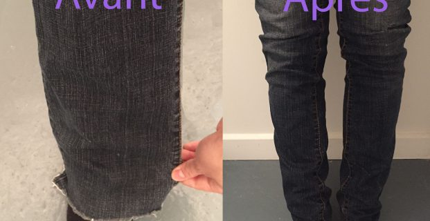 Modifier un pantalon large en slim