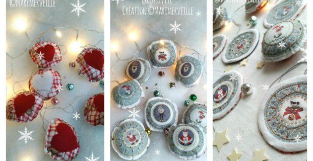 Boules ou Galettes de Noël en tissu