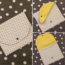Une pochette pour la serviette de cantine