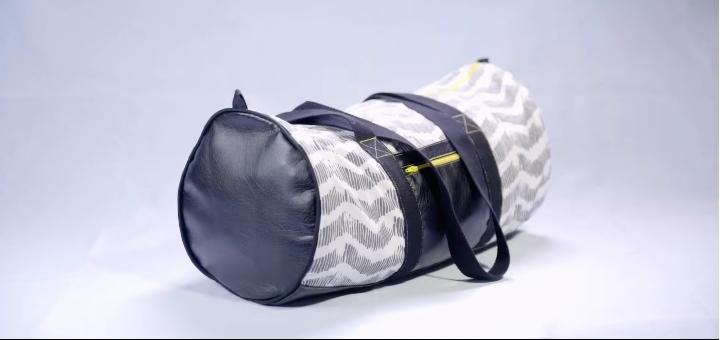 Sac de sport vintage pop couture - Tuto sac de sport ...