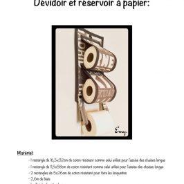 Dévidoir à papier toilette