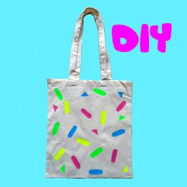 Customiser un tote bag vermicelles