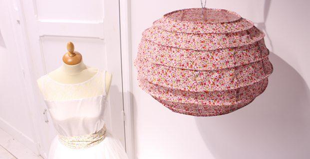 Lampion en tissu