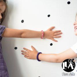 Bracelets ronds en tissu
