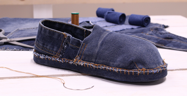 Espadrilles en jeans 100% récup