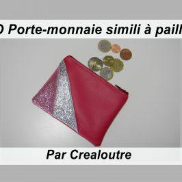 Porte-monnaie simili à paillettes