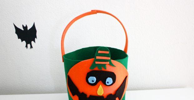Seau en feutrine pour Halloween
