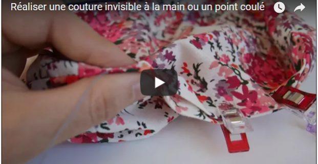 Réaliser un point invisible (ou «coulé) à la main