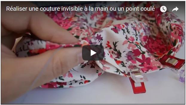 R aliser un point invisible ou coul la main pop for Couture a la main invisible