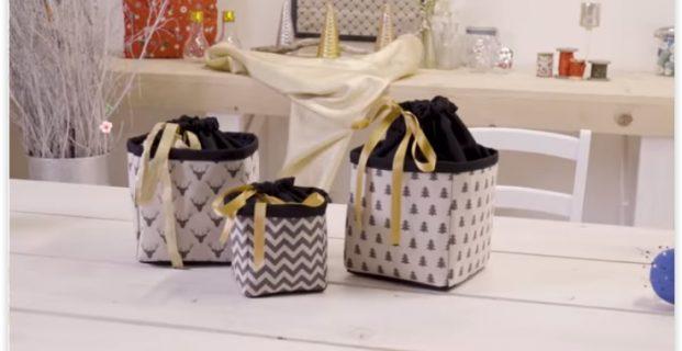 Pochette cadeau en tissu