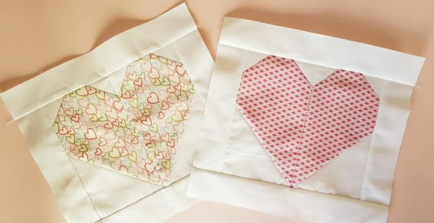 Apprendre le patchwork en réalisant un coeur.