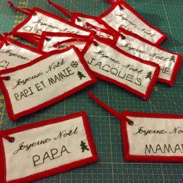 Etiquettes pour cadeaux de Noël