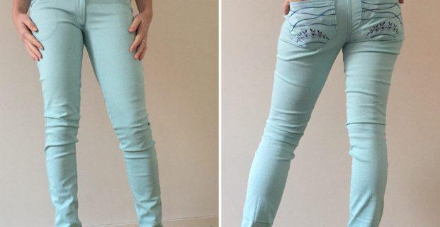 Pantalon type jeans