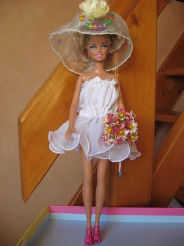 2 robes de mari e pour poup e barbie pop couture - Barbie mariee ...