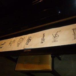 Protège clavier de piano