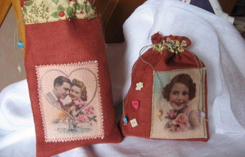 sac cadeaux vieilles cartes postales