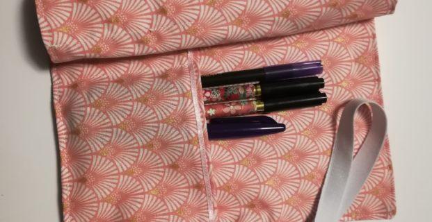 Pochette de rangement pour feutres et stylos