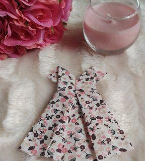 Déco robe en tissu façon origami