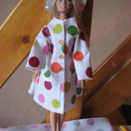 Imperméable pour poupée Barbie