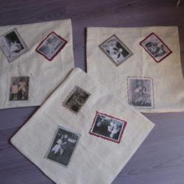 Housse de coussins vieilles photos transfert