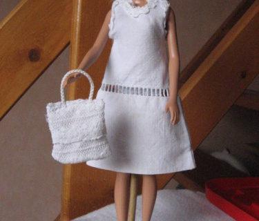 Robe trapèze en drap poupée Barbie