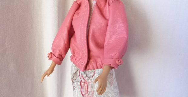 Blouson en cuir pour Barbie