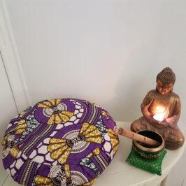 Coudre un coussin de méditation «yoga»