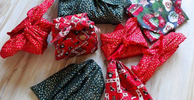 Emballages réutilisables pour Noël ou furoshikis