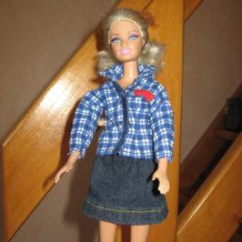 Chemisier et jupe jean Barbie