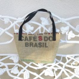 cabas  toile de jute taillé dans sac à café