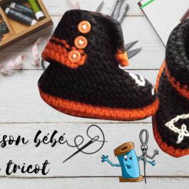 Chausson bébé en tricot