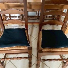 Galettes de chaise passepoilées
