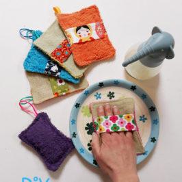 Eponge ou gant lavable