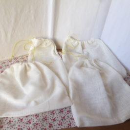 Petits sachets en tissu pour denrées en vrac
