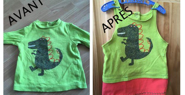 Upcycling tshirt bébé