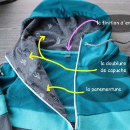 Coudre un sweat à capuche avec zip et belles finitions