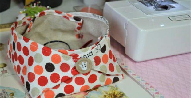 Corbeille textile pour atelier